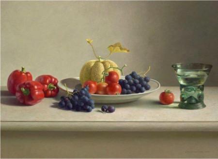 Henk Helmantel - Stilleven met fruit en groente