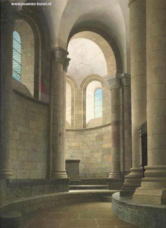 giclée-kooromgang-kerk-Conques