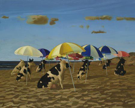 giclee-bas-sebus-koeien-op-het-strand