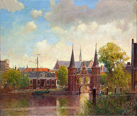 giclee-christiaan-afman-waterpoort-sneek