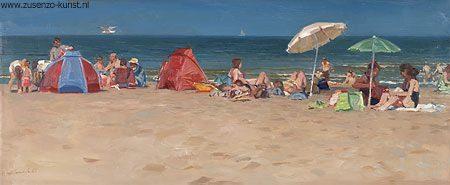giclee-hans-versfelt-strand-op-zomerdag