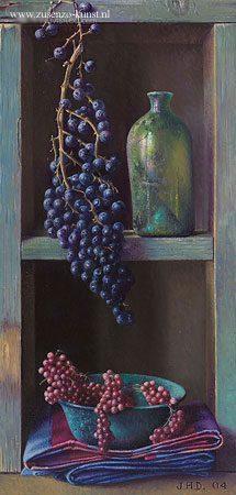 giclee-jef-diels-kastje-met-druiven
