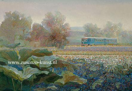 giclee-rein-pol-trein-in-frans-landschap