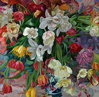 giclee-theo-leijdekkers-vaas-gekleurde-bloemen