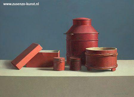 giclee-henk-helmantel-compositie-rood-bussen-doos